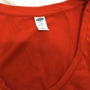 Orangey red maternity size small dress